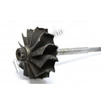 Оплавленный ротор турбины